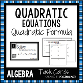 Solving Quadratic Equations using the Quadratic Formula Ta