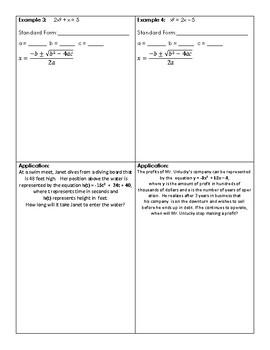 Solving Quadratics with Quadratic Formula