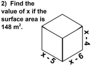 Solving Quadratics with Volume and Surface Area