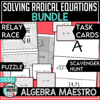 Solving Radical Equation Bundle