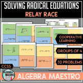 Solving Radical Equation Relay Race