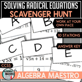 Solving Radical Equation Scavenger Hunt