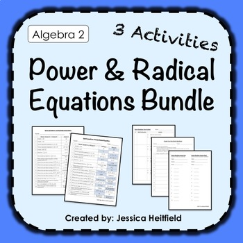 Solving Radical Equations Activity Bundle: Fix Common Mistakes!