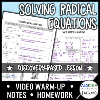 Solving Radical Equations Lesson