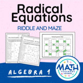 Solving Radical Equations: Line Puzzle Activity