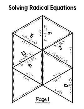 Solving Radical Equations (PUZZLE)