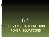 Solving Radical and Power Equations
