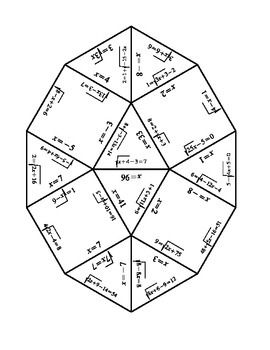 Solving Radical Equations Puzzle By Thomas Todd Tpt