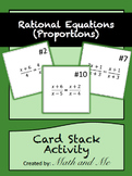 Solving Rational Equations Card Stack Activity