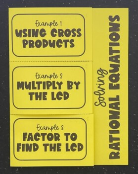 Solving Rational Equations (Foldable)
