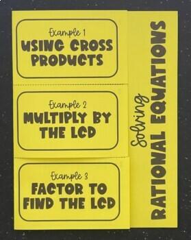 Solving Rational Equations (Foldable)