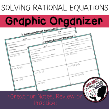 Solving Rational Equations Graphic Organizer