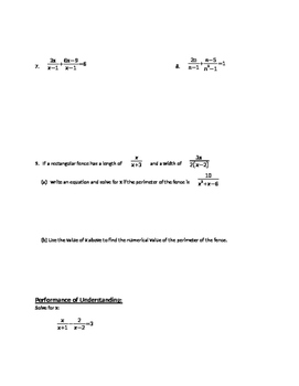 Solving Rational Equations - Notes