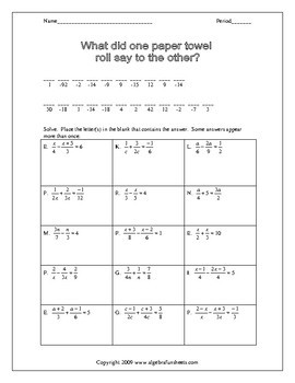 solving rational equations practice worksheets - Rational Equations Worksheet