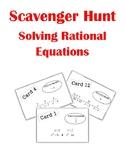 Solving Rational Equations Scavenger Hunt Activity