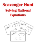 Solving Rational Equations Scavenger Hunt Activity