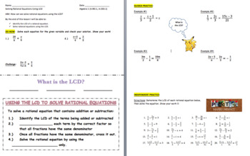 Solving Rational Equations Using the LCD