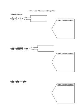 Solving Rational Equations and Inequalities Notes