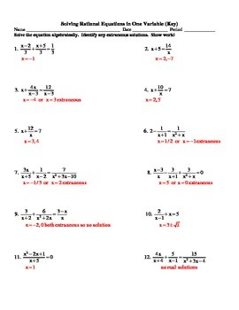 Solving Rational Equations in One Variable