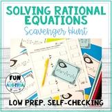 Solving Rational Equations Scavenger Hunt