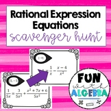 Solving Rational Equations Scavenger Hunt