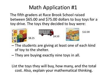 Solving Real World Math Applications