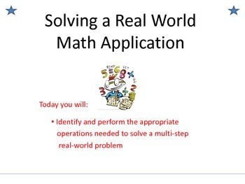 Solving Real World Math Applications