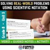 Solving Real-World Problems Using Scientific Notation Lesson