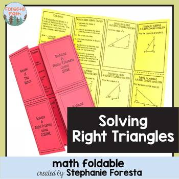 Solving Right Triangles Foldable