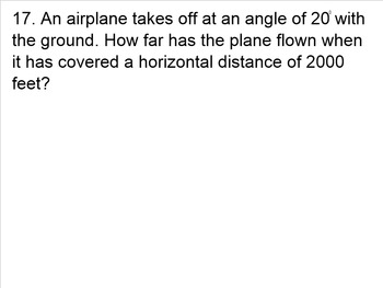 Solving Right Triangles Review Problems