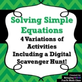 Solving Simple Equations: What's That Saying?