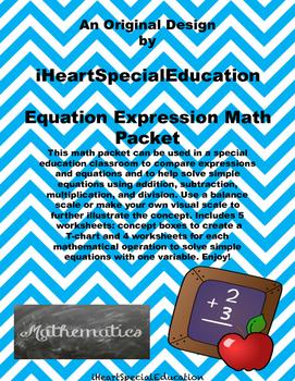 Solving Simple Equations Worksheet Packet