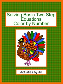 solving basic two step equations color by number by activities by jill. Black Bedroom Furniture Sets. Home Design Ideas