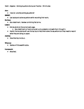 Algebra 07 - Solving Single Variable Equations - Web Challenge