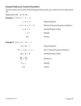 Solving Single Variable Linear Equations