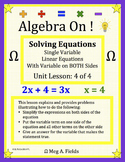 Solving Single Variable Linear Equations (variable on both sides)