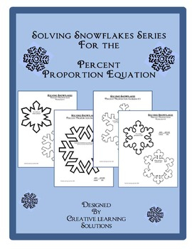Solving Snowflakes Using the Percent Proportion Equation for Middle School