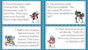 Solving Snowmen Addition and Subtraction