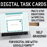 Solving Special Solutions Equations Task Cards