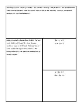 Solving Special Systems of Equations Guided Notes