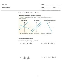 Solving Special Systems of Linear Equations