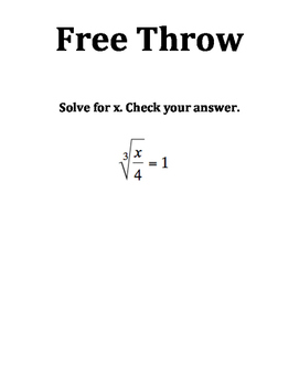 Solving Square Root Equations Mathketball