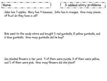 Solving Story Problems powerpoint