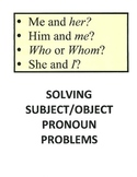 Solving Subject/Object Pronoun Problems