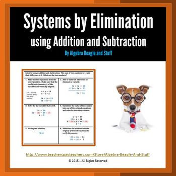 System Problems by Elimination (Add and Subt) Scaffold Notes