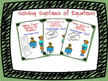Solving System of Equations (Scavenger Hunt') Bundle