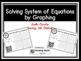 Solving System of Equations by Graphing QR Code Task Cards