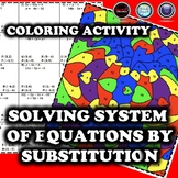 Solving System of Equations by Substitution Coloring Activity