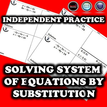 Solving System of Equations by Substitution Student Practice