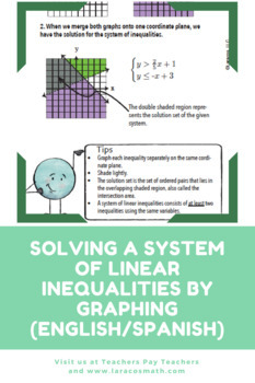 Solving System of Linear Inequalities by Graphing (English/Spanish)